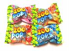 24 x Zoo Pops Mini Lolly Sweets Lollies With Rings - Crazy Candy Factory - Wholesale Bulk Buy